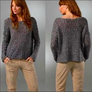 James Perse Grey Knit Pullover Sweater